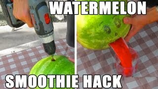 Download Watermelon smoothie hack in 2 minutes- No mess Video