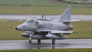 Download *Rare!* 2 Canadian Douglas A-4N Skyhawks Landing at Prestwick Airport Video