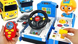 Download Tayo Transform Driving toy~! Let's catch the villain with Pororo police! #PinkyPopTOY Video