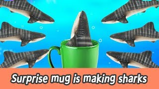 Download [EN] Surprise mug is making sharks!! kids education, let's learn sharks name, collecta #144ㅣCoCosToy Video