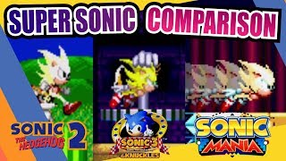 Download Sonic Mania, Sonic 2 and Sonic 3 (Super Sonic) Side by Side Comparison Video