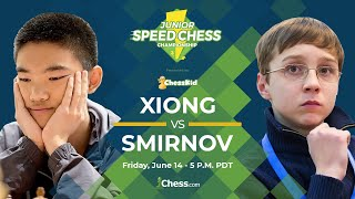 Download Jeffery Xiong vs Anton Smirnov: 2019 Junior Speed Chess Championship Video