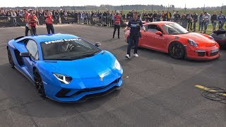 Download Lamborghini Aventador S vs Porsche 991 GT3 RS Video