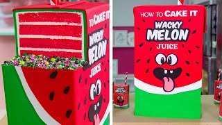 Download GIANT Juice Box Cake with JUICE INSIDE!! | How To Cake It Video