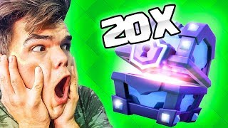 Download OPENING 20 SUPER MAGICAL CHESTS! (Clash Royale) Video