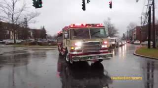 Download Mount Kisco FD Engine 106 + Tower Ladder 14 + Rescue 31 Responding Video