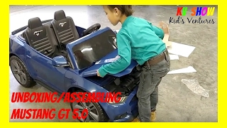 Download Picking Up, Unboxing And Assembling The Power Wheels Ride On Ford Mustang GT 5.0 12 Volt! Video