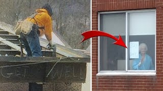 Download This Grandma Stares Out Window Every Day, Iron worker Takes Off Running When He Sees Her Sign Video