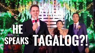 Download Wedding Host pretends he can't speak Tagalog... Then surprises everyone Video