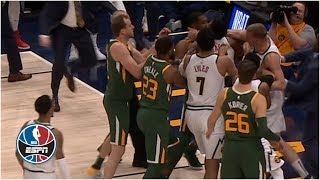 Download Scuffle in Nuggets vs. Jazz, Derrick Favors and Mason Plumlee ejected   NBA Highlights Video