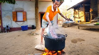 Download Village Food in Laos - SPICY CHILI WOOD and AUTHENTIC KHMU FOOD in Luang Prabang! Video