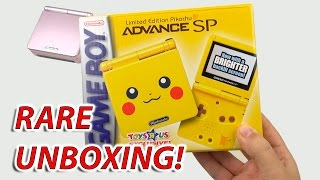Download EXTREMELY RARE Unboxing: Pikachu Gameboy Advance SP Video
