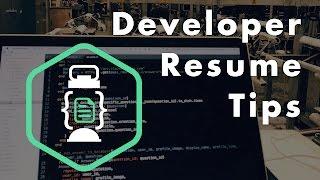 Download Developer Resume Tips Video