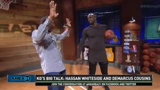 Download Area 21: KG's Big Talk - Hassan Whiteside and Demarcus Cousins | Inside the NBA | NBA on TNT Video