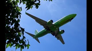 Download S7 Siberia Airlines Boeing 737 go-around and other great overhead landings Video