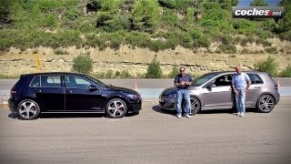 Download Volkswagen Golf GTI vs GTD en circuito - Prueba / Test / Review Coches Video