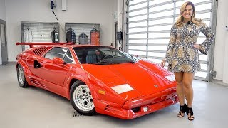 Download An Overview of the Legendary 1989 Lamborghini Countach 25th Anniversary + START&REV!!! Video