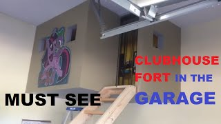 Download How To Make A homemade Clubhouse In The Garage do it yourself Tree Home Kids Playroom cave fort Video