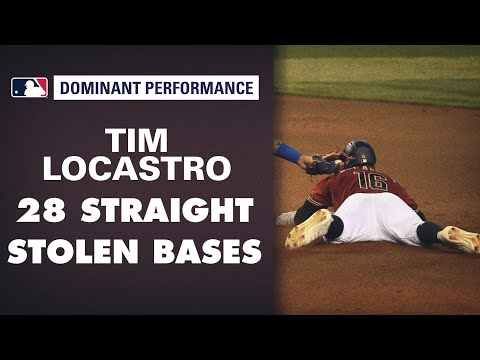 Tim LoCastro makes HISTORY! Breaks consecutive stolen base record to begin a career (28-for-28)!