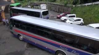 Download この狭そうな場所での大型バス転回、ご覧ください。 全容撮影 西肥バス エアロバス 大型観光バス Video