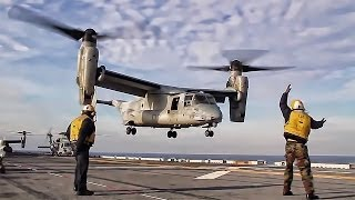 Download MV-22 Osprey Takeoff From Carrier Flight Deck Video