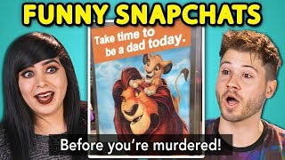 Download 10 FUNNY SNAPCHAT PHOTOS with TEENS & ADULTS (React) Video