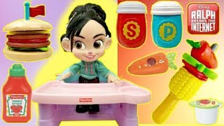 Download RALPH BREAKS THE INTERNET Vanellope eats Fisher Price Stacking Burger Play Set Video