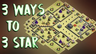 Download 3 Way Of 3 Starring This Popular TH9 ( Town Hall 9 ) War Base ( Internet Base ) | Clash Of Clans Video
