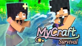 Download Swimming Little Baby | MyCraft Family Minecraft Survival [Ep.7] Video