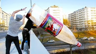 Download WORLDS BIGGEST BOTTLE FLIP (WORLD RECORD) Video