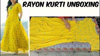 Download Online Designer Kurti Shopping   Designer Kurti   Designer Rayon Kurti Shopping Video
