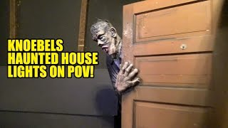Download Knoebels Haunted House Dark Ride Lights On POV Video