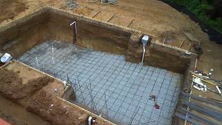 Download Inground swimming pool building process - step by step Video