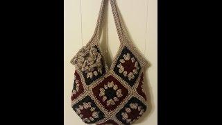Download CROCHET How To #Crochet 13 square granny square Handbag Purse #TUTORIAL #163 LEARN CROCHET DYI Video