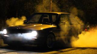 Download Late night burnouts with e30 316 (328i m52b28 turbo) Video