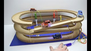 Download How to Make Amazing Hydraulic Powered Magic track with magic cars from Cardboard Video