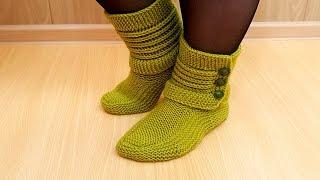 Download Тапочки носки спицами Василиса Video