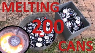 Download Melting 200 aluminium cans Video