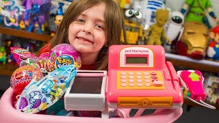 Download HUGE Toy Shopping Cart Surprise Toys for Kids Girls Blind Bags & Surprise Eggs Kinder Playtime Video