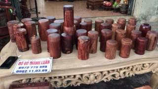 Download Hộp đựng trà(chè) gỗ cẩm lai liền khối(Đồ gỗ thành luân)12-7-2017 Video