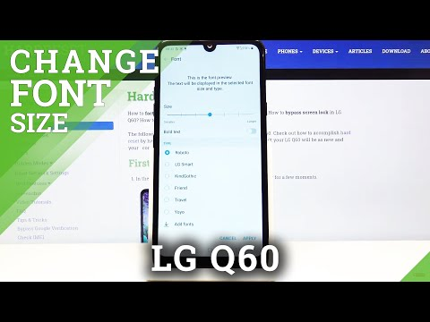 How to Change Font Size in LG Q60 – Set Up Bigger or Smaller Letters
