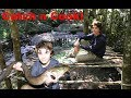 Download Primitive DIY SURVIVAL SHELTER - Catch n Cook! HUGE EEL Video