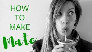 Download How to make Yerba Mate Tea preparation in Argentina Video