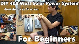 Download DIY 400 Watt 12 volt Solar Power System Beginner Tutorial: Great for RV's and Vans! *Part 1* Video