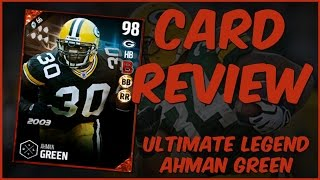 Download MUT 17 Card Review | Ultimate Legend Ahman Green Gameplay + Card Review Video