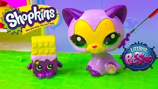 Download DIY Shopkins Season Inspired LPS McDonalds Happy Meal Toys Cat Littlest Pet Shop Custom Craft Video Video
