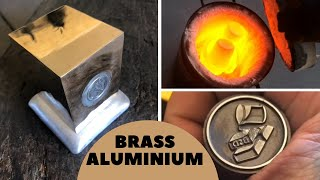 Download Aluminium Core Brass Block with New Personal Stamp & Crucible Tempering Video