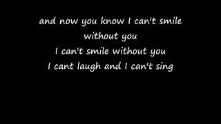 Download can't smile without you - Barry Manilow lyrics Video