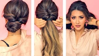 Download ★ 1-MIN EVERYDAY HAIRSTYLES for WORK! 💗 WITH PUFF 💗 EASY BRAIDS & UPDO for Long 💗 Medium HAIR Video