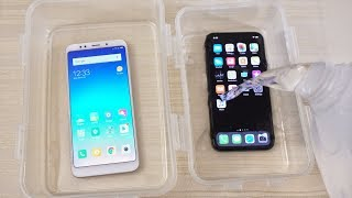 Download Xiaomi Redmi 5 Plus vs iPhone X - WATER Test! Video